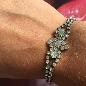 Vintage Iridescent Bracelet Silver